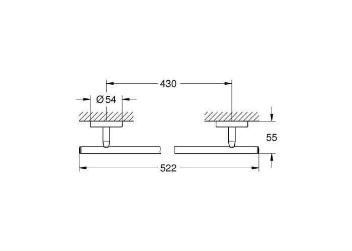 Grohe BauCosmopolitan Держатель для банного полотенца, 430 мм (40459001)