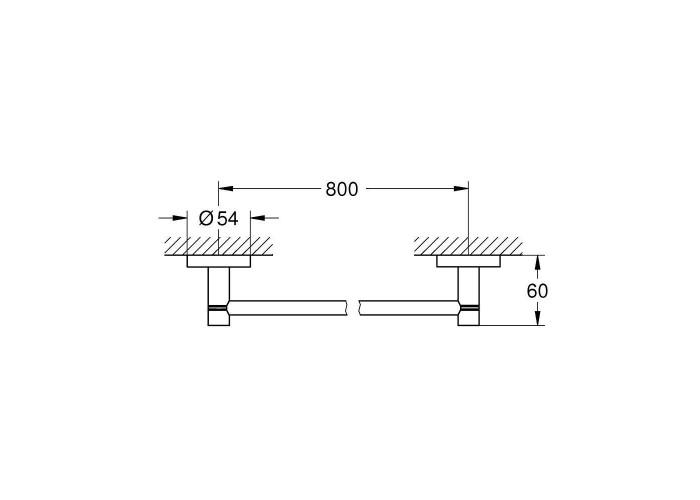 Grohe Essentials Держатель для банного полотенца 800 мм (40386DC1)