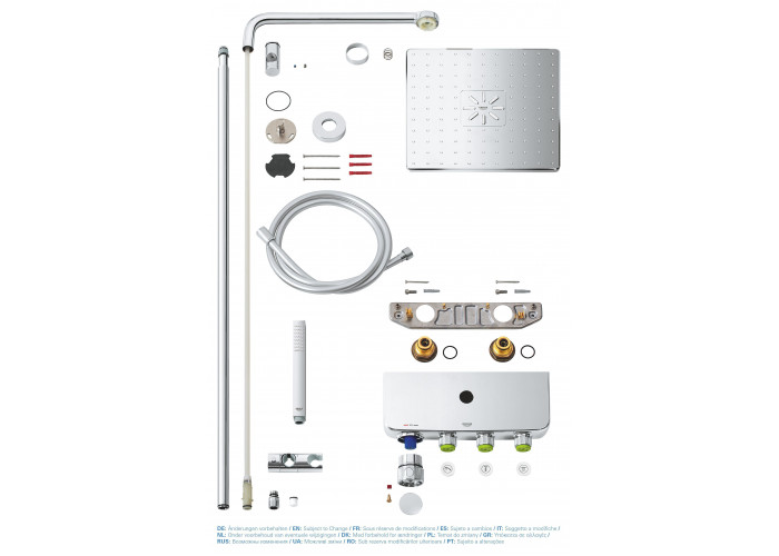 Grohe Euphoria SmartControl System 310 Cube Duo Душевая система с термостатом (26508000)
