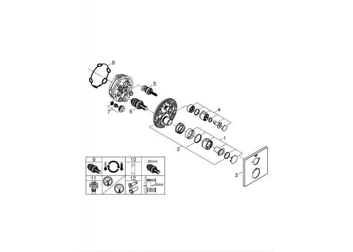 Grohe Grohtherm Душевой комплект с системой Tempesta Cosmopolitain 200 (3472900A)