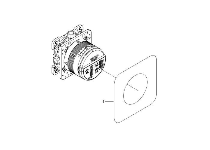 Grohe Eurocube Набор для комплектации душа с Rainshower 310 Mono Cube (26405SC3)