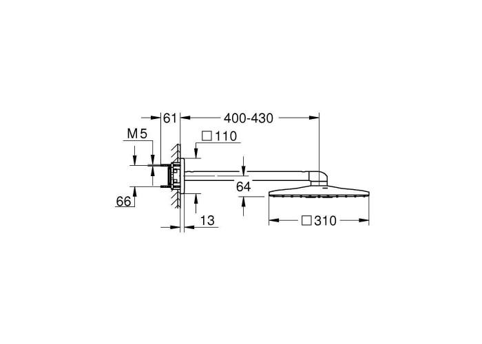 Grohe Grohtherm SmartControl душевая система Rainshower 310 SmartActive Cube (3470600A)