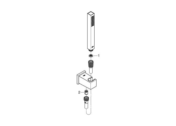 Grohe Grohtherm Cube Набор для комплектации душа с Tempesta Cube 250 (26415SC0)