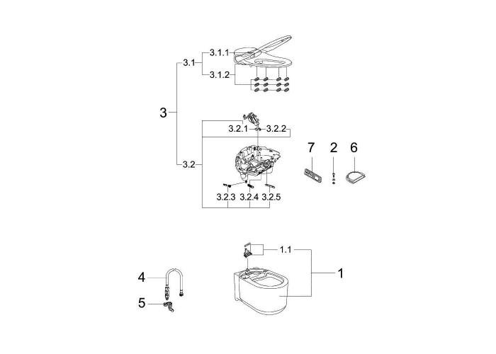 Grohe GROHE Sensia Arena Унитаз-биде подвесной с ионизацией воздуха (39354SH1)