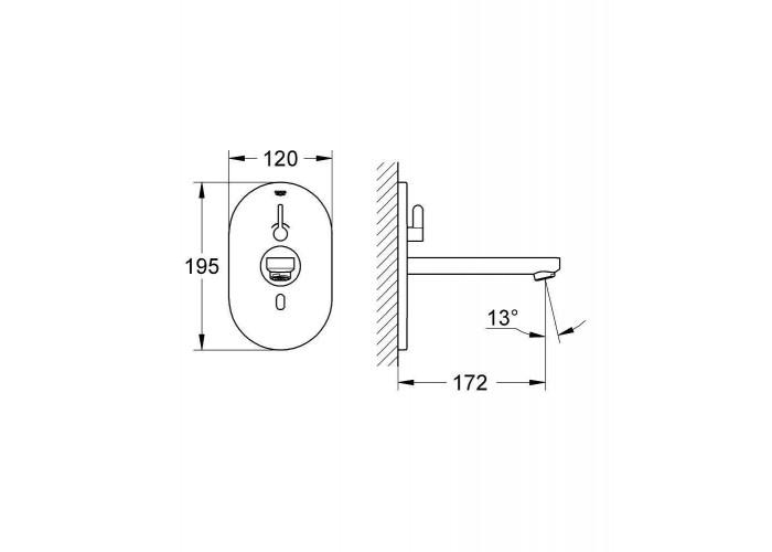 Grohe Eurosmart Cosmopolitan E Инфракрасная электроника для раковины со смешиванием (36315000)
