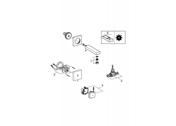 Grohe Eurocube E Инфракрасная электроника для раковины без смешивания (36442000)