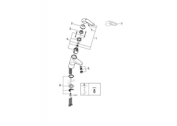 Grohe Euroeco Special Смеситель однорычажный для раковины высокий (32765000)