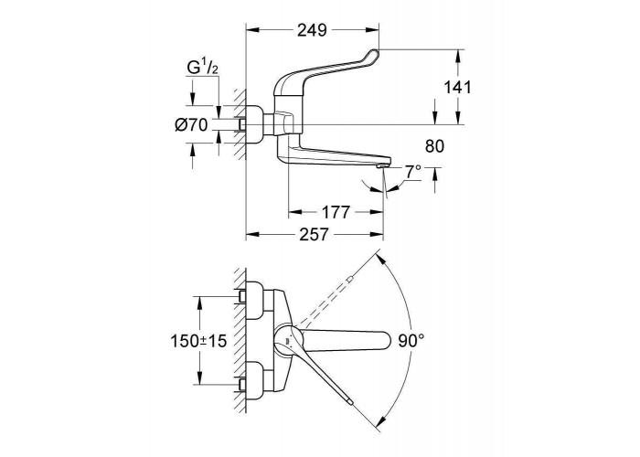 Grohe Euroeco Special SSC Смеситель однорычажный безопасный для раковины (32793000)