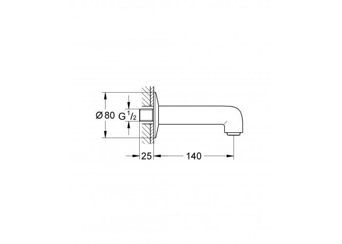 Grohe BauClassic излив для ванны (13258000)