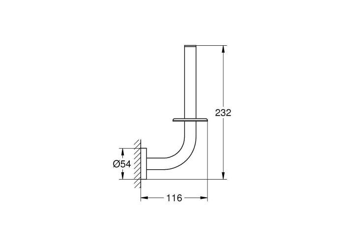 Grohe Essentials Держатель запасного рулона бумаги (40385AL1)