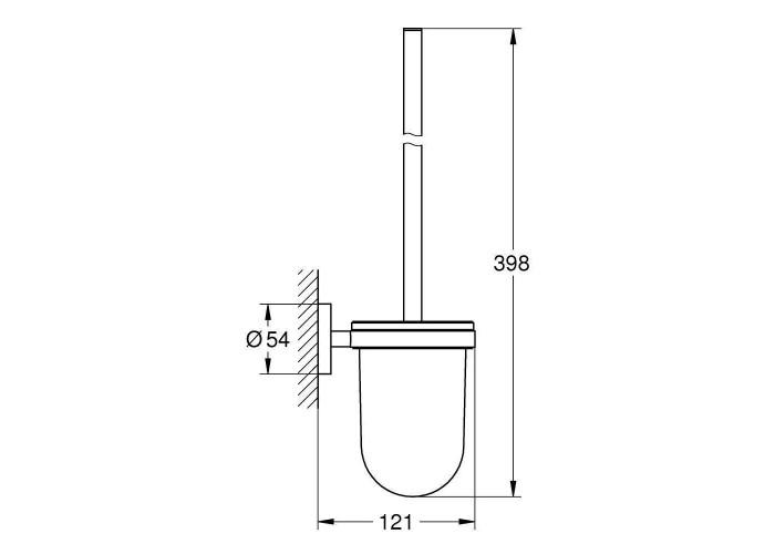 Grohe Essentials Tуалетный ершик в комплекте (40374DC1)