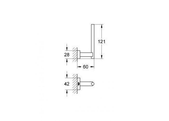 Grohe Essentials Cube Держатель для запасного рулона туалетной бумаги (40623001)