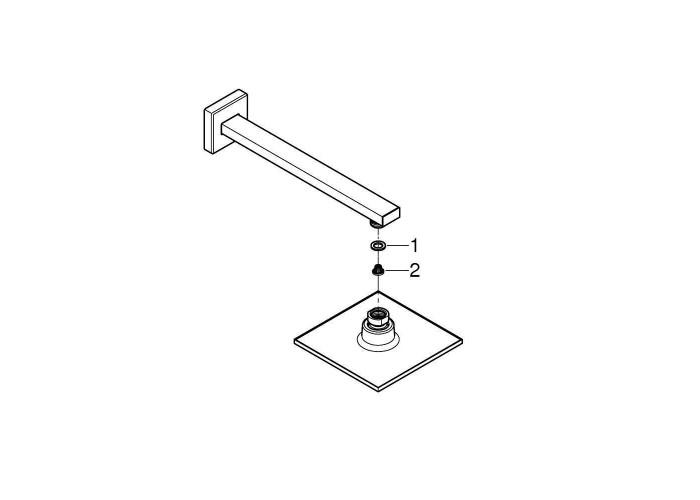 Grohe Euphoria Cube 150 Верхний душ с душевым кронштейном 286 мм, 1 режим струи (26073000)